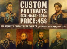 Ye Olde Portraits Comissions by thenota