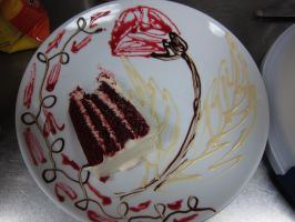 Decorated cake plate 5 by Adriellovesart