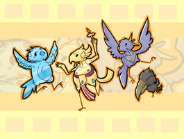 League of Birbs (Anivia, Azir, Valor, Beatrice) by PikaIsCool