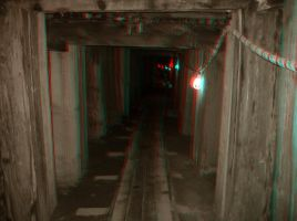 Into the Mountain - Anaglyph by Temphis