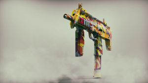 CSGO MP7 Wallpaper by Binary-Map