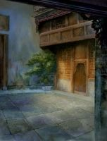Chinese yard two by Claire-Liu