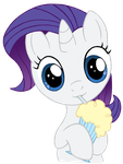 Filly Rarity with Milkshake by Snetri