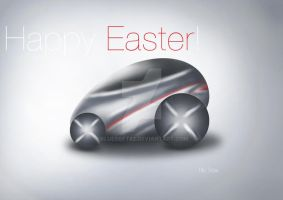 Happy Easter Car by bluesoft82
