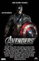 Captian America Avengers Movie Poster by ten410