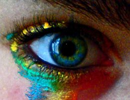 Colourful tears: photoshop by Roozke112