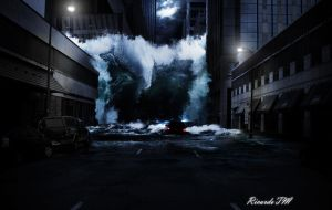 Tsunami in the city | Matte Painting by ShadowMaster29
