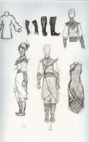 Fire Nation Clothes Sketch by SteelLilly87