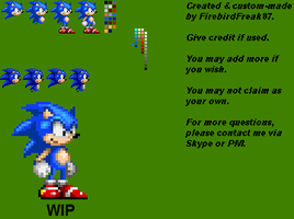 Custom Sonic Sprites by FirebirdPhoenix87