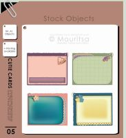 Object pack - Cutie Cards by MouritsaDA-Stock