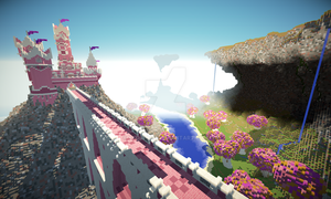 Minecraft Pink Castle by klokhuis