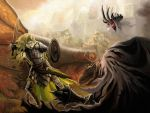 Eowyn vs the Nazgul by DrStein