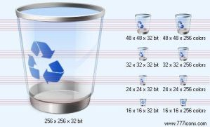 Recycle bin Icon by jpeger