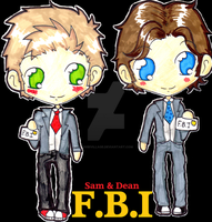 Sam and Dean F.B.I by ChibiVillage