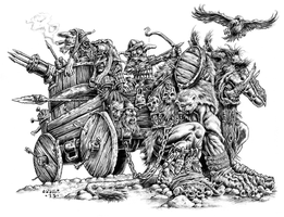 Goblin War Wagon by vikingmyke