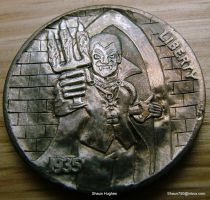 Hobo Nickel Dracular's Castle Carved Shaun Hughes by shaun750