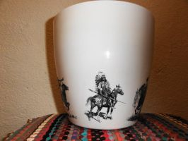Flower Pot, american native indians by naraosart