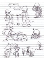 Mother 2,3 Sketchies by MissyZero