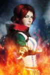 Triss Merygold the Witcher 2 cosplay by Katfromrivia