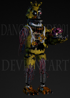 Withered Nightmare Chica by Dangerdude991