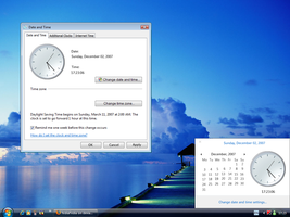 Vista TimeDate for XP preview by fediaFedia