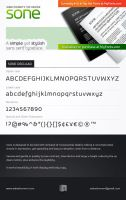 SONE Typeface at MyFonts.com by akkasone