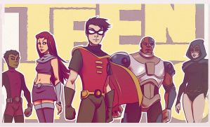 Teen Titans by andrahilde