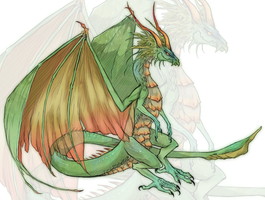 Dragon Doodle #126 by Aviatre
