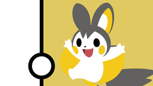 Requested Wallpaper: Emolga Minimalistic by Narflarg