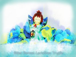 My Angel With His Lantern Of Love by theOrangeSunflower