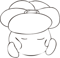 Free Lineart - Sleeping Vileplume by CassidyPeterson