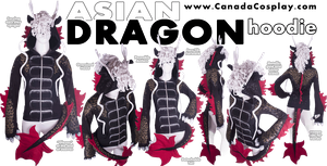 Asian Dragon Hoodie by KayPikeFashion