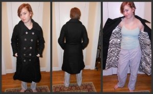 Black Wool Coat by Dye-Another-Day