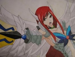 Erza Scarlet: Heaven Wheel Armor by Zebra1994