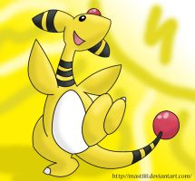 A very happy Ampharos by Mast88