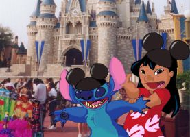 Lilo and Stitch on Vacation by xfkirsten