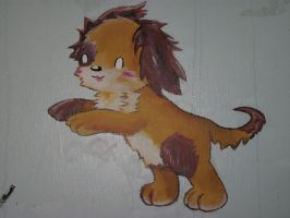 Wall Painting - Puppy by Maplemay