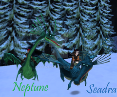 Seadra and Neptune by CoolMan666