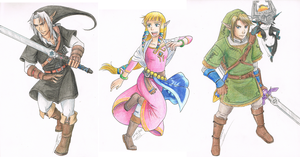 Favourite Characters - Legend of Zelda by Koto-wari