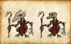 Concept Kobold cultist of dragon's fire by Keleus