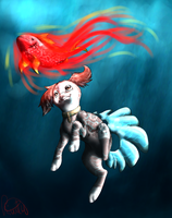 The Little Finnedyr And The Fish by Livaly