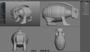 Grenade Bunny 3D Resource by pixelworlds