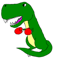 boxing T-rex by Dragonwolf6000