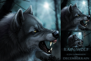 Rain Icon Commission by DarkIceWolf