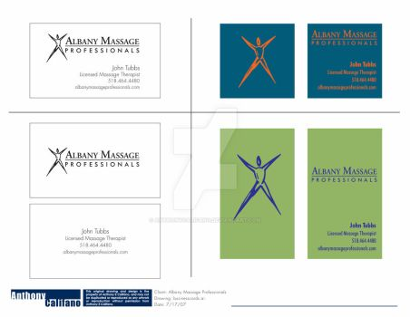 Albany Massage Professionals Business Card Layout by anthonycalifano