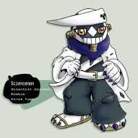 hacked digimon: Sciencemon by G-FauxPokemon