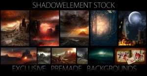 Premade Backgrounds Preview by DerekEmmons