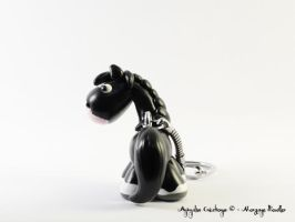 Custom horse - black sabino by AnimalisCreations