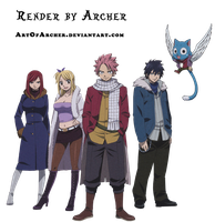 Team Natsu Render by Archer by ArtOfArcher