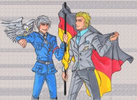 German Bros Day coloured by Cissy-88